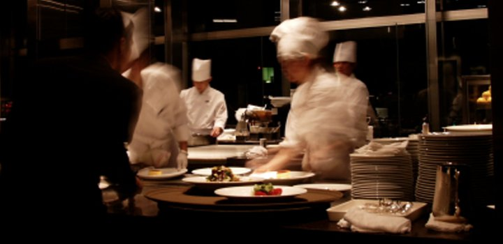 Catering - chefs in kitchen